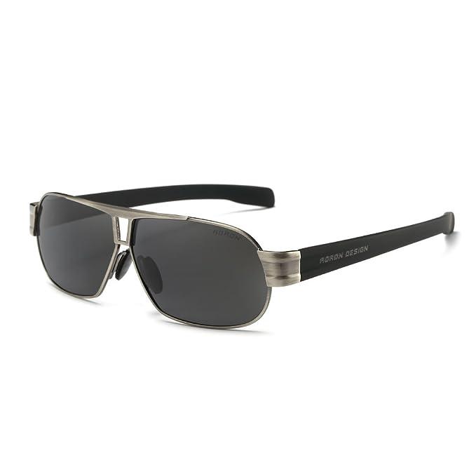 Aoron Gafas de sol polarizadas de conducción marca hombres 8516