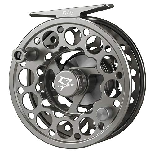 Piscifun Sword Fly Fishing Reel with CNC-machined Aluminum Alloy Body 3/4 Space Gray (Tibor Saltwater Reel)