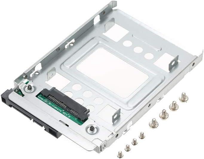 Docooler 2. 5/ SSD إلى 3. 5/ SATA Hard Disc HDD Adapter Hot Swap Plug Bracket Tray Cage متوافق مع 2. 5/ / 3. 5 / SATA SSD لـ HP Dell IBM Lenovo