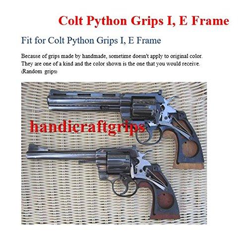 Amazon.com : New Colt Python Grips I/ E I E Frame Checkered Hardwood ...