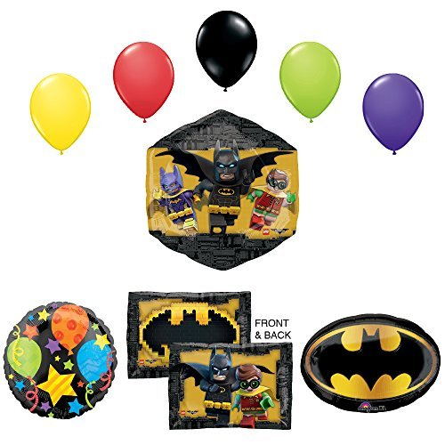LEGO The Batman Movie Birthday Party Supplies and Balloon Decorations
