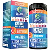 Keton Strips - Perfect Ketogenic Supplement to Measure Ketones in Urine & Monitor Ketosis for Keto Diet, 125 Urinalysis Test Strips