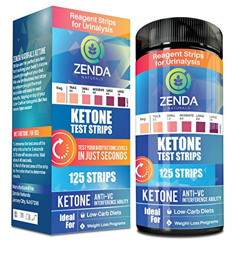 Ketone Strips - Perfect Ketogenic Supplement to Measure Ketones in Urine & Monitor Ketosis for Keto Diet, 125 Urinalysis Test Strips