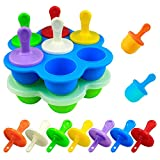 Mity rain Mini Silicone Pop Molds- 7-cavity DIY Ice Popsicle Mold With...