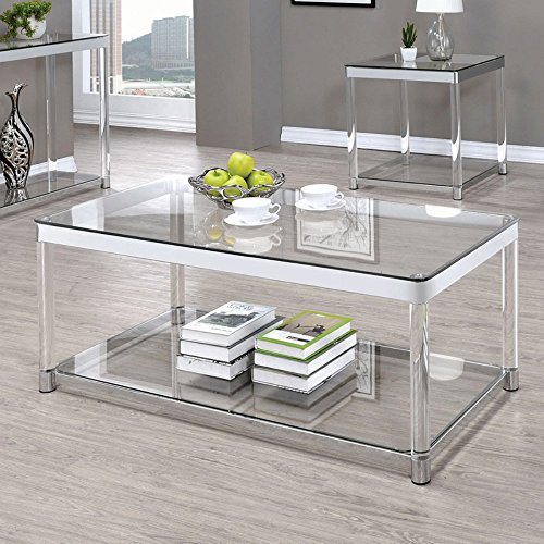 Coaster 720748-CO Furniture Piece, - Acrylic Clear Coffee Table