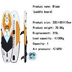 FACAI-Gonfiabile-Stand-Up-SUP-Paddle-Board-Caviglia-Safety-Leash-Paddle-Regolabile-Carry-Carry-Zaino-Dual-Sail-Pompa-A-Doppia-Azione-Kit-Paddle-Board-Adatto-A-Tutte-Le-Abilita-Principianti-IdealiO