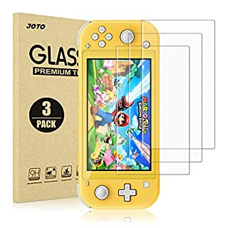[3 Pack] Switch Lite Screen Protector, JOTO Tempered Glass Screen Film Guard Rounded Edge Real Glass Screen Protector for Nintendo Switch Lite 2019 -Clear