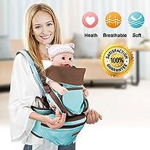 [Patrocinado] Multifuncional bebé portador de para todas las estaciones, Baby Ctrap cintura taburete, Hug tipo delantera, trasera tipo y Sstrap combinación última intervensión, portador de bebé de 360grados Flexible bebé cintura taburete, Mult, Verde