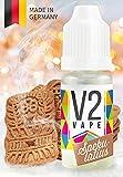 V2 Vape E-Liquid Spekulatius ohne Nikotin - Luxury Liquid für E-Zigarette und E-Shisha Made in Germany aus natürlichen Zutaten 10ml 0mg nikotinfrei