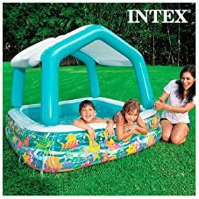 Piscina Hinchable con Sombrilla Casa Intex: Amazon.es: Deportes y ...