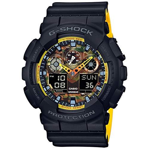 Casio G-Shock Men's Analog-Digital Black & Yellow Resin Strap Watch - Resin Strap G-shock
