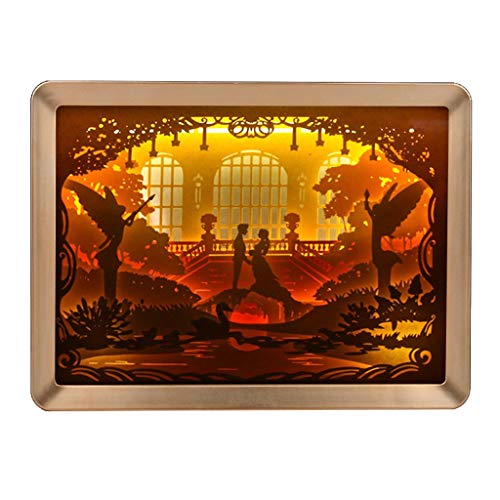 Remote Light Shadow Paper Carved Lights DIY Creative Control Small Night Gold