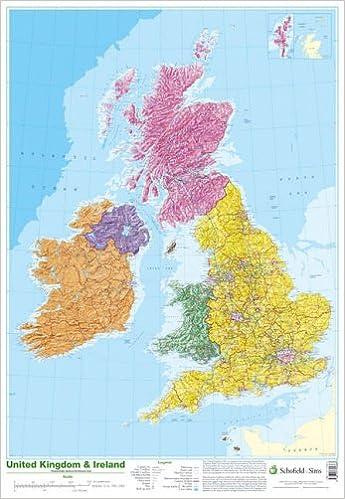Map of UK and Ireland Schofield Sims 9780721709383 Amazoncom