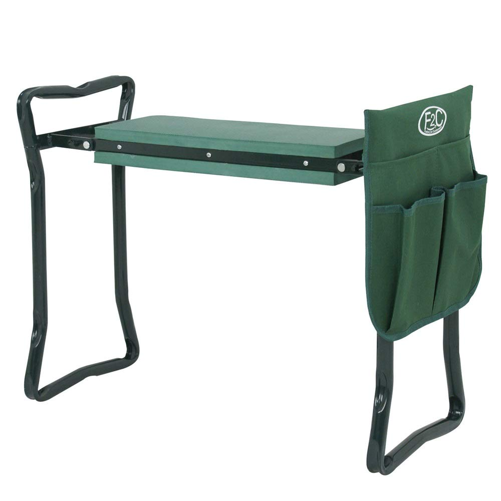 Good Concept Garden Kneeler Seat Bench Stool Foldable Soft Cushion w Tool Pouch by Good Concept (Image #1)
