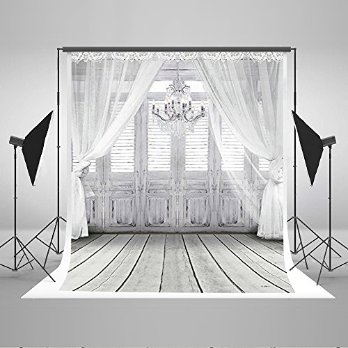 Kate 20x10ft/6x3m Photography Backdrop Fundo White Chandelier Doors 3D Baby Photography Backdrop Background for Wedding LK-2086 by Kate