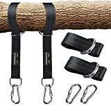 Sahara Sailor Tree Swing Hanging Straps (Set of 2), Non-Stretch Swing Hanging Kit with Safety Lock Carabiners Carrying Bag Perfect For Tire, Disc Swings, Hammocks, Holds Up to 2200 LBs