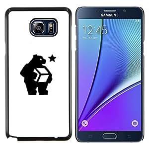 LECELL--Funda protectora / Cubierta / Piel For Samsung Galaxy Note 5 5th N9200 -- ¿qué estás haciendo oso --