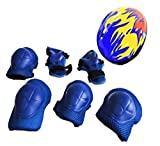 ASTRQLE 1Set 7PCS 3~6 years Old Children Kids Protection Gear Helmet Knees Elbows Wrists Durable Safety Protective Pads For Sports Cycling Skating Roller Extreme Sports