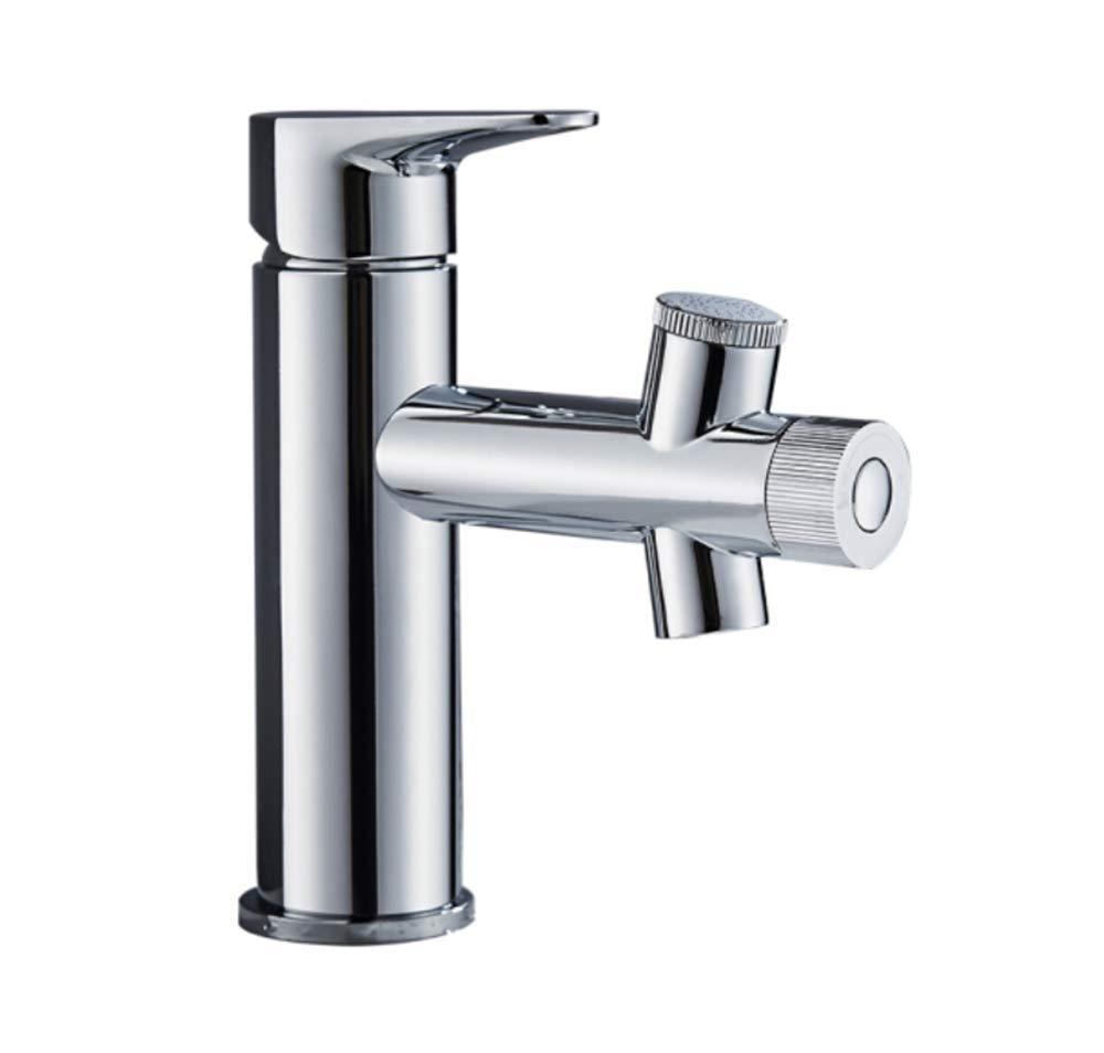 Edelstahl Einhand Mischer Einhebel Waschbecken, Wasserhahn, Heißes Und Kaltes Bad, Einlochmontage, Wasserfontäne, Waschbecken, Beckenaufsatz.