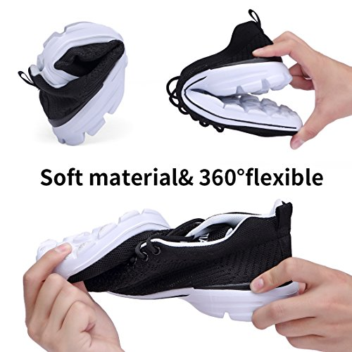 Outdoor Casual Shoes Walking eyeones Lightweight All Sports Women's Black Men's Athletic Sneakers CqqwH80