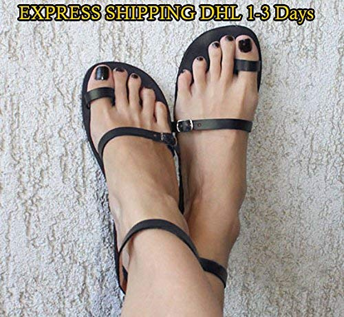 EXPEDITED SHIPPING Sandals Toe Ring Sandals Leather Sandals Strappy Sandals Greek Sandals - Breeze (Leather Sandals Brown)