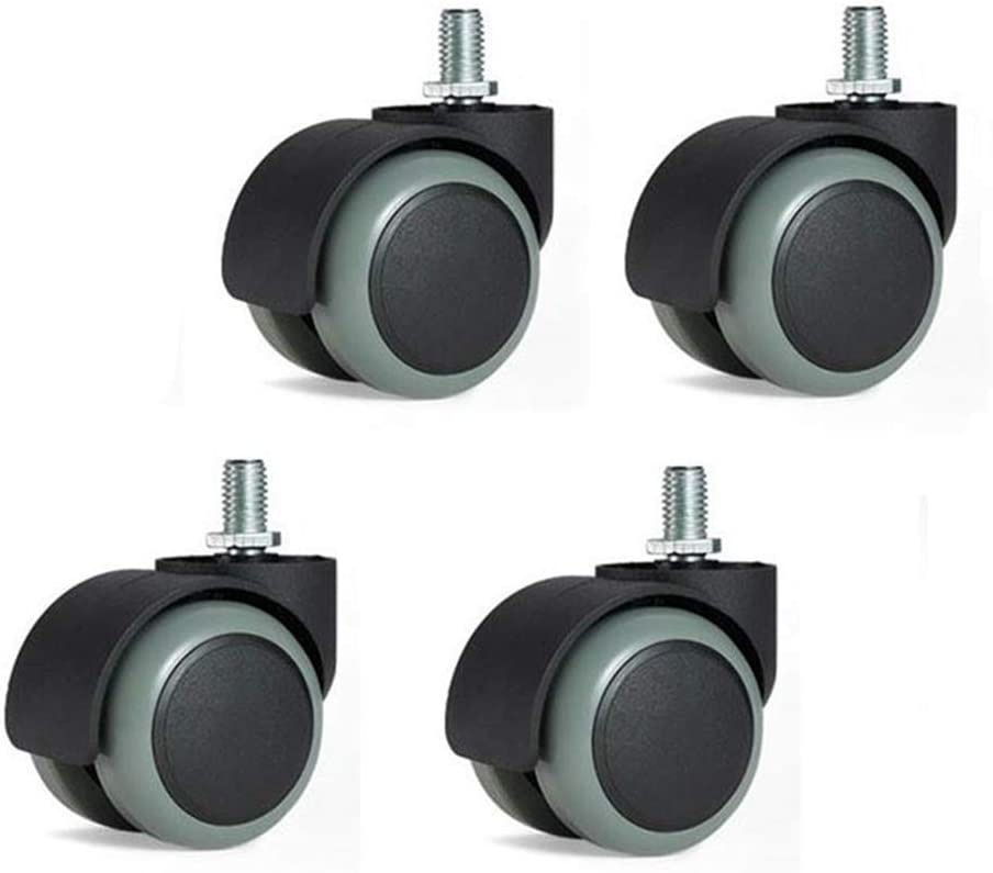 Color : Thread -Swivel, Size : 2 inches 5 Pieces with 10mm X 15mm Threaded Stem MUMA 4 X 50mm Furniture Office Chair Swivel Wheel Castors Replacement Caster