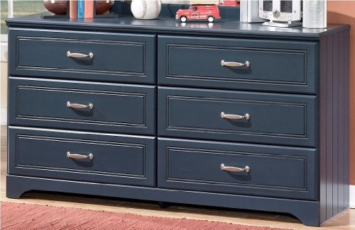 Ashley Furniture Signature Design - Leo Chest of Drawers - 6 Drawer Dresser - Traditional Style - Blue by Signature Design by Ashley