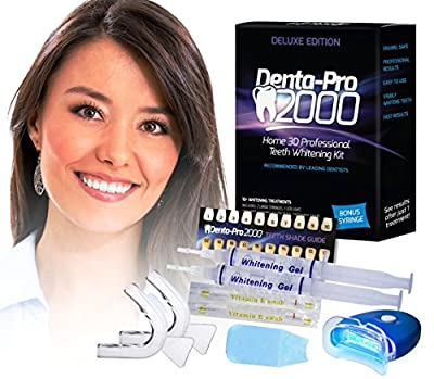 DentaPro2000 At Home 3D Premium Teeth Whitening Kit - See Results After The First Use!