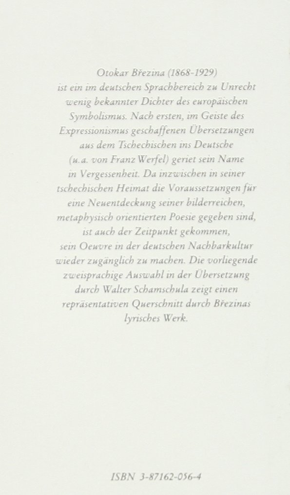 Meine Hände Sanfte Last Gedichte Tschechisch Deutsch