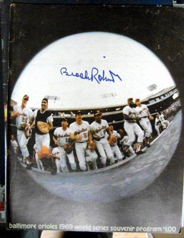 Autograph Warehouse 42945 1969 World Series Program Original Mets Vs. Orioles Autographed By Brooks Robinson Davey Johnson Elrod Hendricks Tug Mcgraw, Paul Blair and Wayne (Tug Mcgraw World Series)