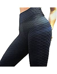 Women's High Waist Ruched Butt Lifting Slimming Leggings...