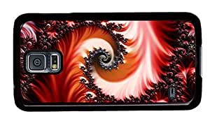 Hipster awesome Samsung Galaxy S5 Case abstract fractal art PC Black for Samsung S5