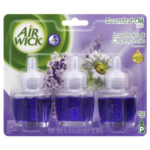 Air Wick Scented Oil Lavender & Chamomile 3 Refills 0.67 Oz