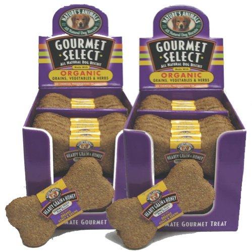 Gourmet Select Organic Biscuit Dog Treat (48-Pack) [Set of 48] Flavor: Hearty Grain & Honey