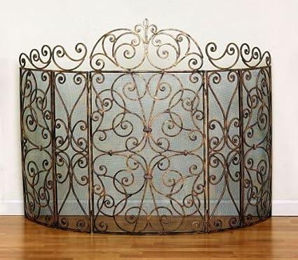 Antique Fireplace Screen >> Amazon Com Fireplace Screens Somerset Manor Fireplace Screen