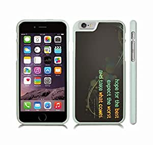 """iStar Cases? iPhone 6 Plus Case with """"Honey badger don't care"""" Funny, Grey Grunge Font on Textured, Honey Badger Design , Snap-on Cover, Hard Carrying Case (White)"""