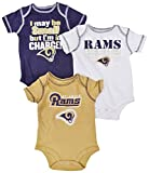 Outerstuff Los Angeles Rams Charge Baby/Infant 3 Piece Creeper Set 12 Months
