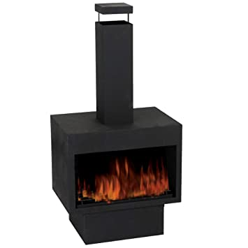 Miraculous Guaranteed4Less Outdoor Fire Pit Metal Chiminea Log Wood Burner Garden Patio Heater Fireplace Home Interior And Landscaping Ologienasavecom
