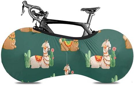 UQ Galaxy Cubierta De Rueda De Bicicleta,Llama Cactus Plants Bike ...