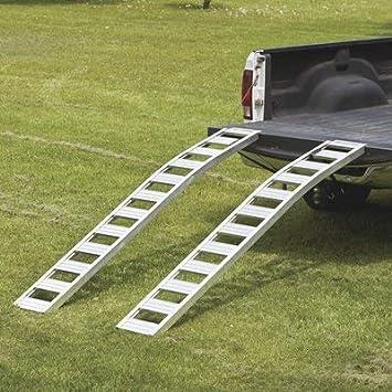 Ultra-Tow Non-Folding Arched Aluminum Loading Ramp Set 2500-Lb 5Ft.L Capacity