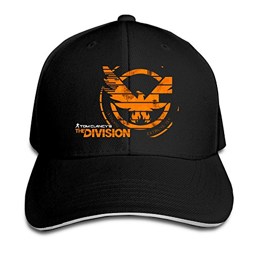 Price comparison product image Summer Tom Clancy's The Division LOGO Snapback Hats Black Sandwich Peaked Cap