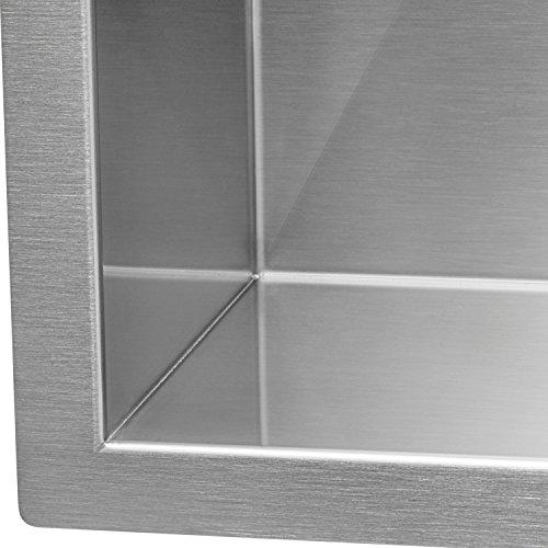 Ruvati RVH7350 Undermount 16 Gauge Kitchen Sink Double Bowl, 30'', Stainless Steel by Ruvati (Image #7)