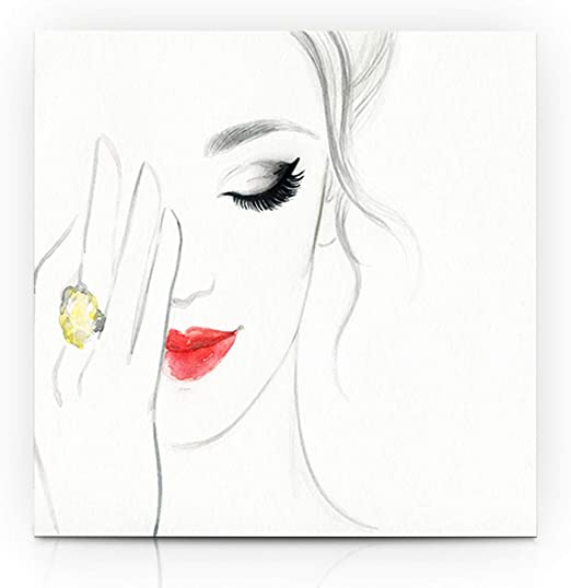 Lips Face Modern Canvas Home Fine Wall Art Photo Prints Colorful Decor Print