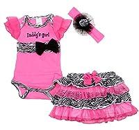 Baby Butterfly Headdress & Baby Girl's Rose Zebra Dress &T-shirt Size 3mos-6yrs