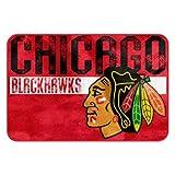 NHL Chicago Blackhawks Embossed Memory Foam Rug, One Size, Multicolor