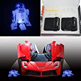 Spoya Force Awaken 3D Star Wars R2-D2 Robot Wireless Magnetic Car door step LED welcome logo shadow ghost light laser projection projector light