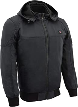 X-Large Milwaukee Leather Performance Mens Heated Soft Shell Jacket w//Battery Pack Included