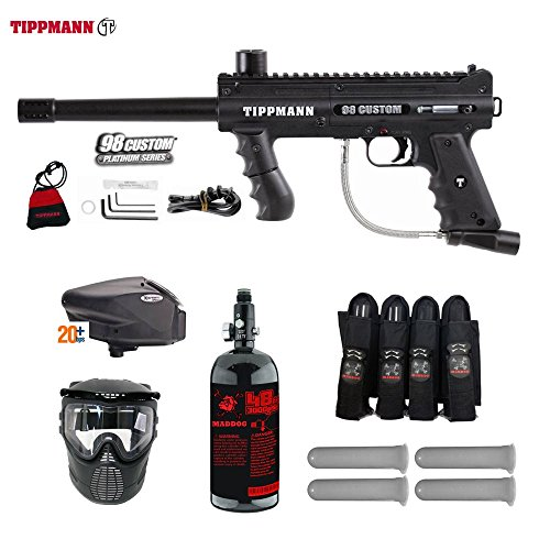 98 Tippmann Model Accessories (MAddog Tippmann 98 Custom Expert Paintball Gun Package - Black)
