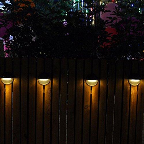 6LED Outdoor Solar-Powered Fence Lamp Garden Landscape Light Decoration White Light