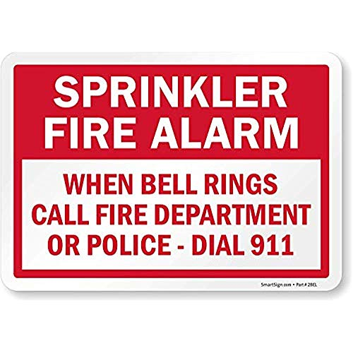 (Diuangfoong Sprinkler Fire Alarm When Bell Rings Call Fire Department Or Police Dial 911 Label 12